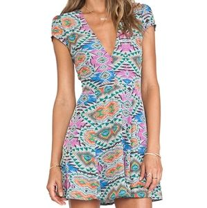Lovers + friends Cassidy fit & flare mosaic dress